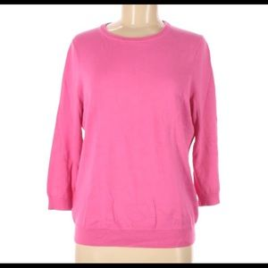 Lands End M Pink Pullover Sweater